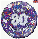 80th birthday balloon