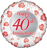 ruby wedding anniversary balloon
