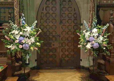 Hedge Rose Church Decoration MC Pedestals