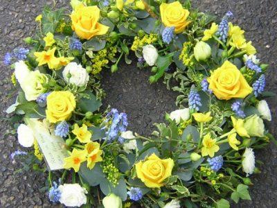 "Spring wreath 14"""