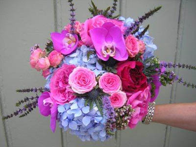 Funky bright bouquet
