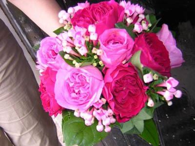 Vibrant rose bouquet