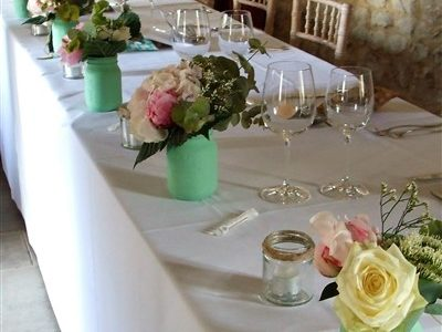 posy jars wedding receptions