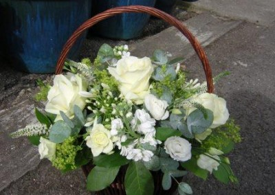 white basket tribute